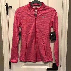 Nike Golf Pink Full Zip Dri Fit Jacket